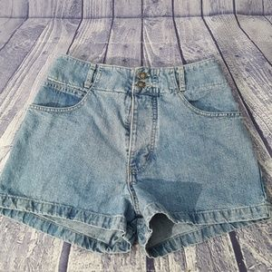 Vintage Guess High Waisted Button Fly Denim Shorts